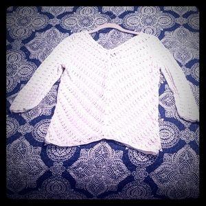 Open weave cotton Jones New York sweater